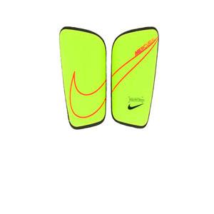Nike Mercurial Hard Shell - Espinilleras de fútbol Nike con cintas de velcro - amarillas flúor