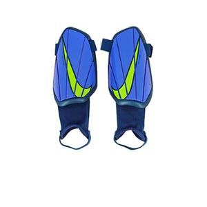 Espinilleras Nike Charge niño - Espinilleras de fútbol infantiles Nike con tobillera protectora - azules, amarillas flúor