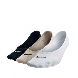 Calcetines Nike mujer Everyday 3 pares finos - Pack de 3 calcetines invisibles finos de mujer Nike - varios colores - frontal