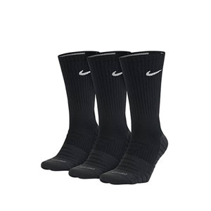 Calcetines Nike Everyday Max 3 pares acolchados - Pack 3 calcetines media caña acolchados Nike - negros - frontal