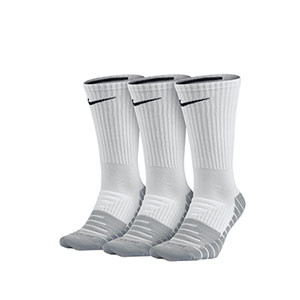 Calcetines media caña Nike Everyday Max Cushioned pack 3 - Pack de 3 calcetines media caña Nike Everiday Max Cushioned - blancos - frontal