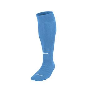 Medias Nike Classic 2 acolchados - Medias de fútbol acolchadas Nike - azul celeste - frontal