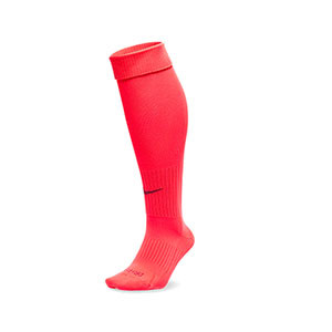 Medias Nike Classic 2 acolchados - Medias de fútbol acolchadas Nike - rojas - Frontal