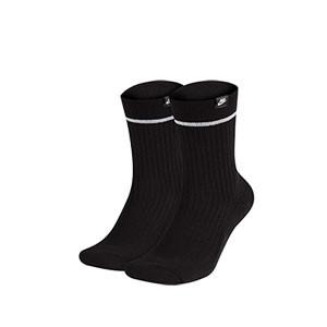 Calcetines Nike Sneaker Essential 2 pares - Pack de 2 calcetines de media caña Nike - negros