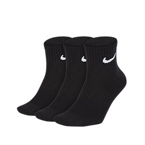 Calcetines tobilleros Nike Everyday finos 3 pares - Pack de 3 calcetines tobilleros finos Nike - negros - frontal