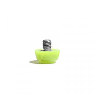 Taco goma Studiamonds TPU 6 mm - 1 ud de taco de goma delantero de repuesto para botas Nike, Puma, New Balance,... de 6 mm - amarillo flúor - frontal