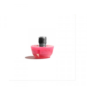 Taco goma Studiamonds TPU 6 mm - 1 ud de taco de goma delantero de repuesto para botas Nike, Puma, New Balance,... de 6 mm - rosa flúor - frontal
