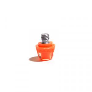 1x taco goma TPU 9mm botas fútbol adidas Studiamonds naranja - 1 ud de taco de goma trasero de repuesto botas adidas (excepto World Cup y Kaiser) de 9 mm - naranja flúor