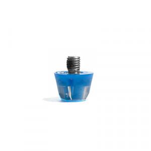 Taco goma Studiamonds TPU 9 mm - 1 ud de taco de goma trasero de repuesto para botas Nike, Puma, New Balance,... de 9 mm - azul - frontal