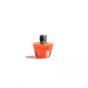 Taco goma Studiamonds TPU 9 mm - 1 ud de taco de goma trasero de repuesto para botas Nike, Puma, New Balance,... de 9 mm - naranja flúor - frontal