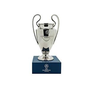 Mini Copa con pedestal Europa League - Figura réplica con pedestal copa Champions League 150 mm - plateada - frontal