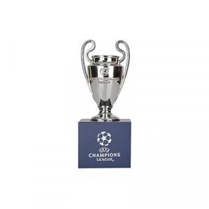 Mini Copa con pedestal Champions League - Figura réplica con pedestal Copa UEFA Champions League 45 mm - plateada - frontal