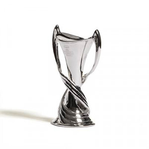 Mini Copa Womans Champions League - Figura réplica copa UEFA Womans Champions League 45 mm - plateada - frontal