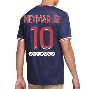 Camiseta Neymar Nike PSG 2020 2021 Stadium - Camiseta primera equipación Neymar Jr. Nike del Paris Saint-Germain 2020 2021 - azul marino y roja - trasera