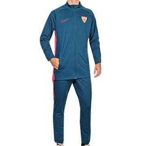 Chándal Nike Sevilla 2020 2021 - Chándal de paseo Nike del Sevilla FC 2020 2021 - azul marino - frontal
