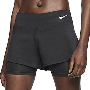 Short con malla Nike Eclipse mujer - Pantalón corto con malla para mujer Nike - negro - frontal