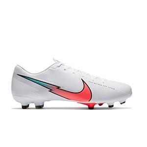 Nike Mercurial Vapor 13 Academy FG/MG - Botas de fútbol Nike FG/MG para césped artificial - blancas - pie derecho