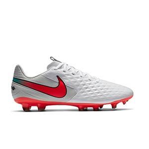 Nike Tiempo Legend 8 Academy FG/MG - Botas de fútbol Nike de piel FG/MG para césped artificial - blancas - pie derecho