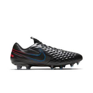 Nike Tiempo Legend 8 Elite FG - Botas de fútbol de piel de canguro Nike FG para césped natural o artificial de última generación - negras - pie derecho