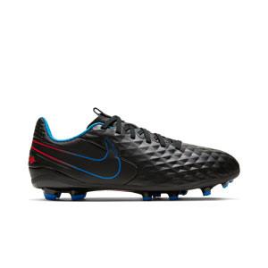 Nike Tiempo Jr Legend 8 Academy FG/MG - Botas de fútbol Nike de piel para niño FG para césped artificial - negras - pie derecho