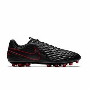 Nike Tiempo Legend 8 Academy AG - Botas de fútbol de piel Nike AG para césped artificial - negras - pie derecho
