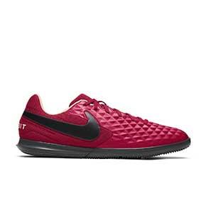 Nike Tiempo Legend 8 Club IC - Zapatillas de fútbol sala Nike con suela lisa IC - granates - pie derecho