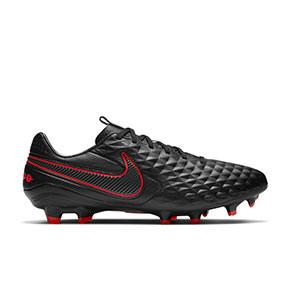 Nike Tiempo Legend 8 Pro FG - Botas de fútbol de piel Nike FG para césped natural o artificial de última generación - negras - pie derecho
