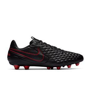 Nike Tiempo Legend 8 Pro AG-PRO - Botas de fútbol de piel Nike AG-PRO para césped artificial - negras - pie derecho