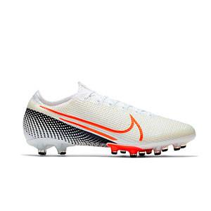 Nike Mercurial Vapor 13 Elite AG-PRO - Botas de fútbol Nike AG-PRO para césped artificial - blancas y rosas - derecho