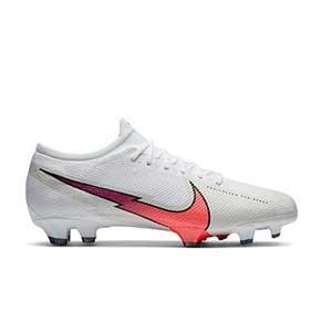 Nike Mercurial Vapor 13 Pro FG - Botas de fútbol Nike FG para césped natural o artificial de última generación - blancas - pie derecho
