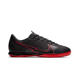 Nike Mercurial Vapor 13 Academy IC - Zapatillas fútbol sala Nike suela lisa IC - negras - pie derecho