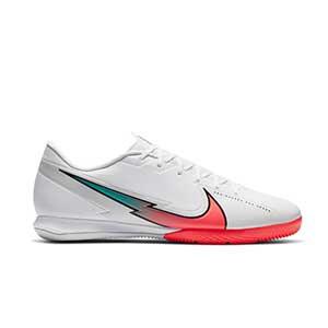 Nike Mercurial Vapor 13 Academy IC - Zapatillas fútbol sala Nike suela lisa IC - blancas - pie derecho