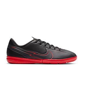 Nike Mercurial Vapor 13 Academy IC Jr - Zapatillas fútbol sala infantiles Nike suela lisa IC - negras - pie derecho