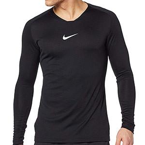 Camiseta interior térmica Nike Dri-Fit Park - Camiseta interior compresiva manga larga Nike - negra - frontal
