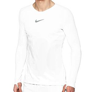 Camiseta interior térmica Nike Dri-Fit Park - Camiseta interior compresiva manga larga Nike - blanca - frontal