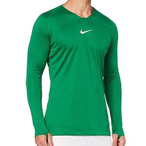 Camiseta interior térmica Nike Dri-Fit Park - Camiseta interior compresiva manga larga Nike - verde oscuro - frontal