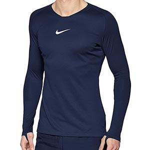 Camiseta interior térmica Nike Dri-Fit Park - Camiseta interior compresiva manga larga Nike - azul marino - frontal
