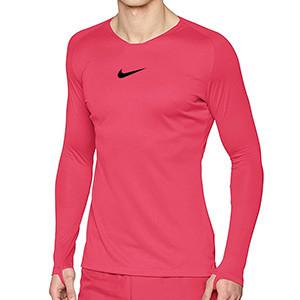 Camiseta interior térmica Nike Dri-Fit Park - Camiseta interior compresiva manga larga Nike - rosa - frontal