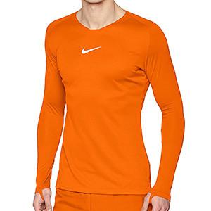 Camiseta interior térmica Nike Dri-Fit Park - Camiseta interior compresiva manga larga Nike - naranja - frontal