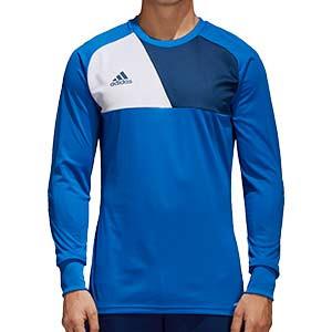 Camiseta portero adidas Assita 17 - Camiseta de portero de manga larga acolchada adidas - Azul - frontal