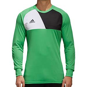 Camiseta portero adidas Assita 17 - Camiseta de portero de manga larga acolchada adidas - Verde - frontal