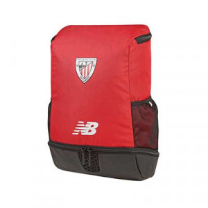 Mochila New Balance Athletic Club - Mochila de deporte New Balance oficial Athletic de Bilbao 2020 2021 - roja - frontal