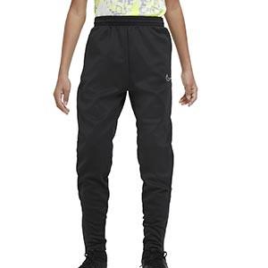Pantalón Nike niño Therma Academy - Pantalón largo infantil de entrenamiento Nike - negro y amarillo flúor - frontal