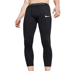 Mallas Nike Pro Tight 3/4 - Mallas de 3/4 interiores compresivas Nike - negras - frontal