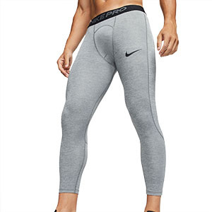 Mallas Nike Pro Tight 3/4 - Mallas de 3/4 interiores compresivas Nike - grises - frontal