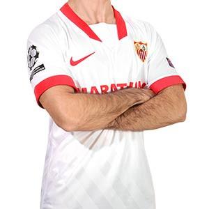 Camiseta Nike Sevilla UCL 2020 2021 - Camiseta primera equipación Nike del Sevilla FC Champions League 2020 2021 - blanca - frontal
