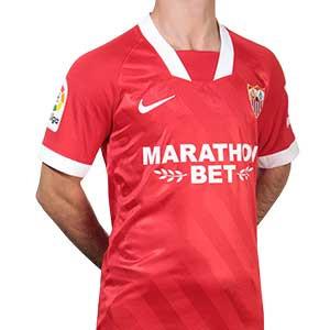 Camiseta Nike 2a Sevilla 2020 2021 - Camiseta segunda equipación Nike Sevilla FC 2020 2021 - roja - frontal