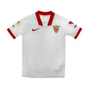 Camiseta Nike Sevilla niño 2020 2021 - Camiseta infantil primera equipación Nike del Sevilla FC 2020 2021 - blanca - frontal