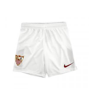 Short Nike Sevilla niño 2020 2021 - Pantalón corto infantil primera equipación Nike Sevilla FC 2020 2021 - blanco - frontal