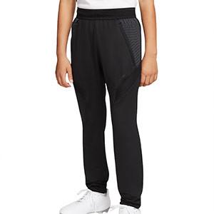 Pantalón largo Nike niño Dry Strike - Pantalón largo de entrenamiento de fútbol infantil Nike - negro - frontal